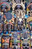 Mayan Wooden Masks Stock Photo