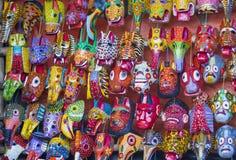 Mayan wooden masks Stock Image