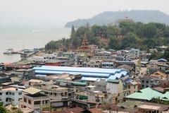 Mayanar/缅甸对比土地  库存图片