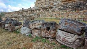 Mayans ruines in the floor stock photos
