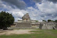 Mayaobservatorium in Chichen Itza stockfotografie