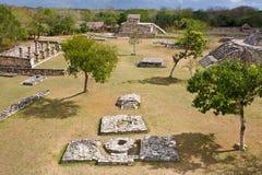 Mayapan -老玛雅地方在近尤加坦梅里达 免版税库存图片