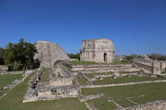 Mayapan ancient ruins, Yucatan, Mexico Royalty Free Stock Image