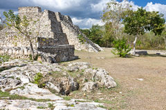 Mayapan - Old Mayan place in Yucatan near by Merida Royalty Free Stock Image