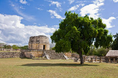 Mayapan - Old Mayan place in Yucatan near by Merida Royalty Free Stock Photo