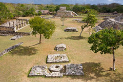 Mayapan - Oude Mayan plaats in Yucatan dichtbij door Merida Royalty-vrije Stock Afbeeldingen