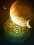 mayaprophecy royaltyfri illustrationer