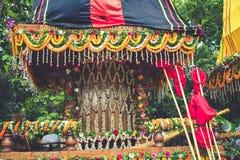Mayapur colorido, celebração do yeatra de Rath foto de stock royalty free