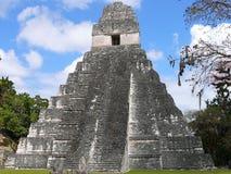Mayaruine bei Tikal Lizenzfreies Stockfoto