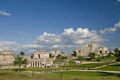 Mayaruinen bei Tulum Mexiko Lizenzfreies Stockbild