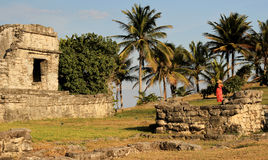 Mayaruinen in Tulum, Mexiko Lizenzfreie Stockbilder