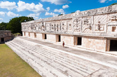 Mayaruinen Uxmal, Mexiko lizenzfreie stockfotos