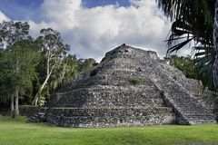 Mayaruinepyramide Stockbild