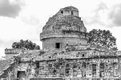 Maya observatory on Chichen Itza site. Stock Images