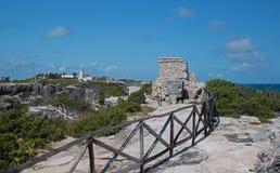 Mayaschrein/Altar/Tempel auf Isla Mujeres Mexiko Lizenzfreies Stockbild