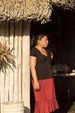 mayaståendekvinna Royaltyfri Fotografi