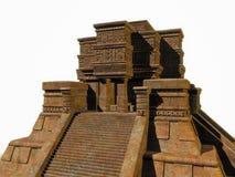 Mayatempel auf Weiß Stockbild