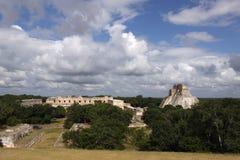 Mayatempel in Uxmal, Mexiko Stockfoto