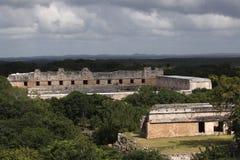 Mayatempel in Uxmal, Mexiko Lizenzfreie Stockfotos
