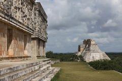 Mayatempel in Uxmal, Mexiko Stockfotografie