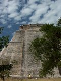 Mayatemple in Uxmal - Mexico Royalty Free Stock Image