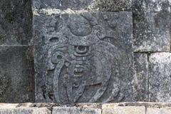 Mayazahlen geschnitzt in der Steinwand Lizenzfreie Stockbilder