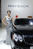 Maybach 62s and model Stock Images