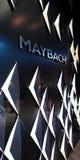 Maybach logo på väggen Royaltyfri Fotografi