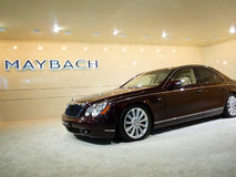 Maybach Luxury Car on Display. DUBAI, UAE - DECEMBER 19: Maybach on display during Dubai Motor Show 2009 at Dubai Int'l Convention and Exhibition Centre December Stock Image