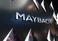 Maybach nos carros de IAA Imagem de Stock