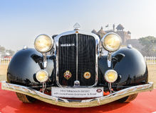 Maybach SW38C vintage car 1937 model. New Delhi, India - Maybach SW38C (1937 model) on display at the 21 Gun Salute International Vintage Car Rally 2016 at Red Royalty Free Stock Photos