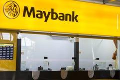 MAYBANK kontuar przy Kuala Lumpur lotniskiem międzynarodowym Obraz Stock