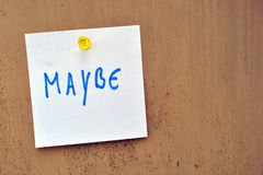 Maybe - doubt Royalty Free Stock Images