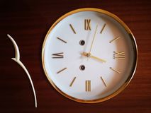 Maybe they are the oldest antique clocks royalty free stock photography