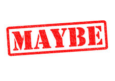 MAYBE. Rubber Stamp over a white background Stock Photos