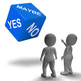 Maybe Yes No Dice Represents Uncertainty And Decisions Stock Photography