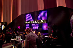 Maybelline Display at NYC Fashion Week Fall 2011 Stock Image