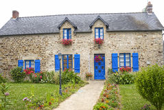 Mayenne - House and garden Royalty Free Stock Photo