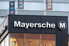 Mayersche sign in dortmund germany royalty free stock photos