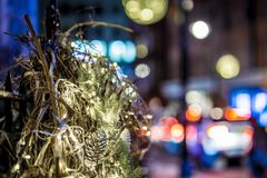 Mayfair in Christmas evening, London Royalty Free Stock Photo