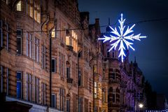 Mayfair in Christmas evening, London Royalty Free Stock Photos