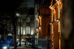 Mayfair in Christmas evening, London Stock Photography