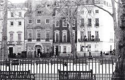 Mayfair, Londyn, UK Styczeń 28 2018 widok przez Berkley kwadrat Annabel ` s osobistości Sławny klub nocny zdjęcie stock