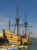 Mayflower II. Recreation of the original Mayflower ship docked at Plymouth Harbor, Plymouth, Massachusetts Royalty Free Stock Image