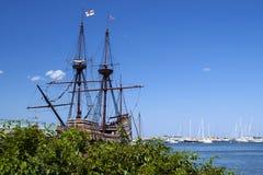 Mayflower II is de Populaire Aantrekkelijkheid van Massachusetts stock afbeelding