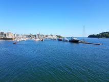 Mayflower marina. Plymouth   Tamar river . Devon Royalty Free Stock Images