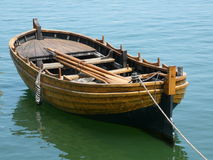 Mayflower Replica Rowboat. This is a replica of a rowboat from the ship the Mayflower, located at Plymouth, Massachusetts royalty free stock image