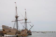 Mayflower si è messo in bacino in Plymouth Immagine Stock Libera da Diritti