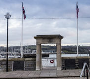 Mayflower Steps Plymouth Harbour Royalty Free Stock Photography