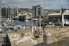 Mayflower Steps on the waterfront in Plymouth England UK Royalty Free Stock Images